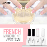 Azure New Soak Off Gel Polish White Pink French Manicure Nai...