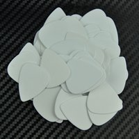 Lot de 100 médiators médiums de 0.71mm Plectrums Celluloid Solid White