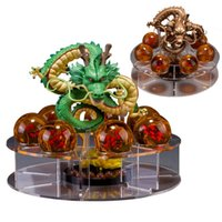 PrettyBaby dragon ball z action figure lotto shenron figure Shenlong pvc con dragonball z set sfere di cristallo 4.5 cm dragon ball mensole set completo