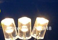 freies Verschiffen 500pcs 5mm Zylindrische Konkav LED, lange flache Oberseite warmweiße LED, 600-900mcd