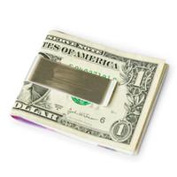 Iacces metall geldclips mit credit cash holter titanium edelstahl herren geld clipper mode design geldclips brieftaschen