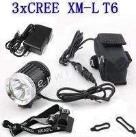 El más nuevo CREE XML 3 T6 LED 3800LM Bicicleta de bicicleta de luz Lámpara delantera Lámpara de bicicleta Faros delanteros Linterna + cargador + diadema + batería