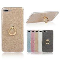 Halka Toka Braketi Standı Glitter Çıkartmalar Holer Silikon Kılıf iphone X 8 7 6 Artı 5 5C