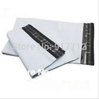 Großhandel-20 * 34 cm weiße selbstsiegel Postsäcke Kunststoff Umschlag Kurier Zerstörerische Postleitzahl Taschen