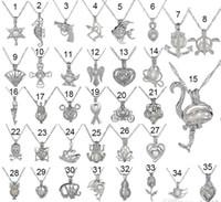 Aşk İstek İnci Kafesleri Madalyon Kolye Oymak Oyster inci Kolye Kolye Tatlısu Inci Köpekbalığı Denizkızı Deniz Atı DIY takı 17112913