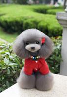 Livraison gratuite vêtements pour animaux de compagnie chien vêtements avec motif lettre rouge couleur noire hiver automne veste manteau facotry vente