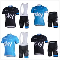 Sky team 2017 cycling jersey cycling clothing short sleeve M...