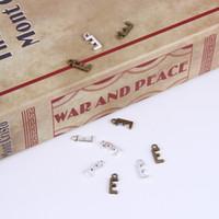 2015New mode antique en alliage de métal plaqué argent / cuivre vente chaude A-Z Alphabet lettre E charmes flottant 1000pcs / lot # 05x