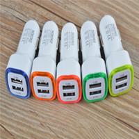 Cargador de coche con doble puerto USB Luces universal 5V 2.1A + 1A para los teléfonos celulares para teléfonos móviles