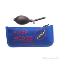 Evrensel mavi hava pompası kama KLOM hava yastığı şişme araba kapısı açma oto giriş araçları büyük beden 280 x125mm