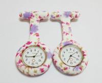 De alta calidad de Silicona Enfermera Reloj de Bolsillo Colores Del Caramelo de Cebra Leopard Prints Suave broche de la banda Reloj de la Enfermera 11 patrones de Venta Caliente