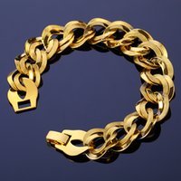 18K Gold Plated Bracelets Cuban Engagement For Men And Women...