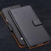 S5 Flip Leather Case Luxury Plånbok För Samsung Galaxy S5 SV I9600 Full Protect Mobiltelefonväska Äkta läderfodral