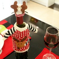2017 Christmas Elk Red Wine Bottle Set Christmas Champagne B...
