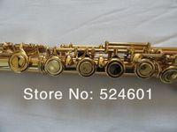 FL-271S مطلية بالذهب 16 ثقوب الناي مقفلة زائد E مفتاح العلامة التجارية Cupronickel الناي آلات موسيقية مع حالة