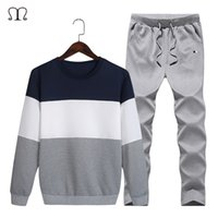 Wholesale- Tracksuit Men Hoodies Men Winter Fleece Tracksuit...