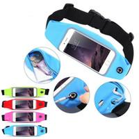Gym Bag cintura iPhone para impermeável Caso Esporte x 8 5s 6 6S 7 Plus Samsung Galaxy S6 S7 S8 borda note8 Correndo Carteira Mobile Phone Pouch