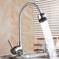 Free Shipping pull out sink faucet. Solid Brass Thicken Chrom...