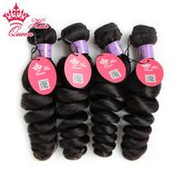 Reine cheveux 4pcs / lot malaisienne vierge de cheveux en vrac lâche pas cher non transformés reine cheveux humains tisse malaisienne en vrac