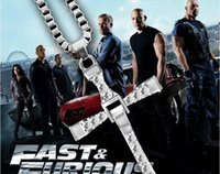 silver plated vintage alloy Movie Fast & Furious necklace sa...