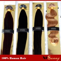 "XCSUNNY Hair Extensions Wholesale 18"" 20"" U Tip Ha..."