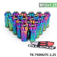 Tansky Blox geschmiedetes 7075 Aluminium Radmuttern P 1.25, L 50mm (Blau, Rot, Purpur, Gelb, Schwarz, Silver) TK-BLOX-750 bis 1,25