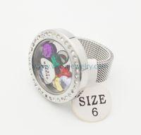 Ze stali nierdzewnej Srebrny kryształ okrągły szklane pierścienie Medaliczne z zespołem siatki