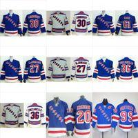 Youth New York Rangers Hockey Jerseys  30 Henrik Lundqvist 36 Mats  Zuccarello 61 Rick Nash Jersey NY Kids Royal Blue Boys Stitched Jersey 030a5438b