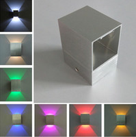 LED Wall Lamps Up and down Square Led Wall Light Decoration ...