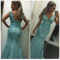 겸손한 인어 공주 댄스 파티 드레스 2018 Vestidos 드 Fiesta Largos Elegantes 구슬 정식 여성 이브닝 가운 맞춤 제작