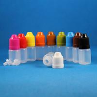 100 Pcs Flacons compte-gouttes en plastique de 5 ml