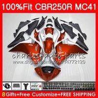 Injection Pour HONDA CBR250 R CBR 250R Orange chaud 300R 11 12 13 14 15 94NO45 CBR300R CBR250R MC41 CBR 250 R 2011 2012 2014 2014 2015 Carénage