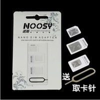 4 في 1 بطاقة SIM NOOSY هاتف محول إخراج دبوس Forcell مع بطاقة SIM رئيسي صندوق البيع بالتجزئة جودة عالية