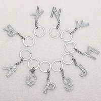 26 English Letters Key Rings A- Z Alphabet Charm Keychain Key...