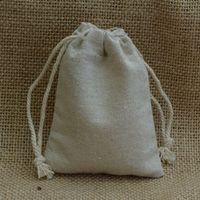 Vintage lino cordón bolsas saco 8x10cm (3x4inch) Makuep Jewelry Regalo Packaging Bolsa RlBew
