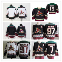 1990 Vintage Coyotes Arizona Jerseys Hockey sur glace 7 Keith Tkachuk 19 Shane Doan 97 Jeremy Roenick Noir Rouge Alternatif Classique Retro Jersey