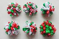 Kerstmis Nieuwe Haaraccessoires Kids Grosgrain Ribbon Boutique Xmas Bows Clip Bloem Baby Meisjes Hoofdband Loopy Bow HD3236