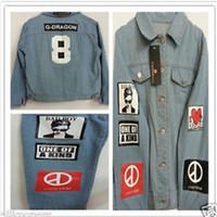 Großhandels-G-Dragon Shirt Bigbang GD TextileCoup Shirts Denim-Jeans-GD-Mantel-Jacke Coup D'etat