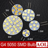 G4 SMD 5050 0. 8W 1. 5W 3W 4W 6W LED lights bulb DC 12V warm w...
