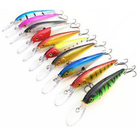 Free Shiping 10- color 11cm 10. 5g Plastic Baits Hard Lures Fi...