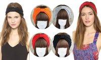 Weise Frauen 2 weit breites Stirnband Baumwollturban Headwrap handgemachter Knoten Hearwear 20pcs / lot freies Verschiffen