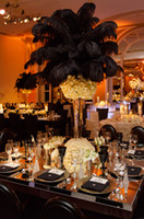 Großhandel 100 stücke 18-20 zoll schwarz straußenfedern federn für hochzeit mittelstück dekor party tischdekor