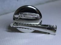 고품질 뜨거운 판매 DIY 디스크 직경 30mm 수륙 양용 브로우 핀 머리 핀 악어 클립 또는 브로치 금속 부속품 100pcs