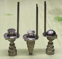 Новейшие регулируемые Domeless джентльмен шляпу и бейсболку Титана гвоздь 10 14 18 мм (6 в 1) Мужской и женский стеклянные бонги