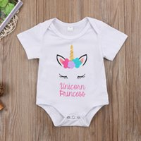 Newborn Baby Girls Unicorn Princess Romper Jumpsuit Outfits ...
