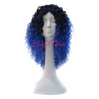 FRETE GRÁTIS Micro trança peruca africano americano trançado perucas KINKY CURLY ESTILO OMBRE CINZA COR BOUNCY 18 polegadas perucas sintéticas para as mulheres negras