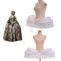 1pc Vintage White Crinoline Underskirt Petticoat Women Medieval Victorian Cage Lolita Punk Cage Frame Renaissance Cosplay Accessories