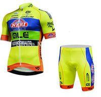 Vêtements de sport coupe-vent en gros / vélo VTT / VTT ensemble de vêtements d'été avec pantalon à bretelles à séchage rapide tampons gel pour