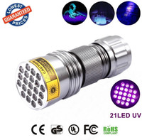 New 21 LED UV Ultra Violet Aluminum Alloy Flashlight Blackli...