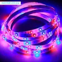 Luce flessibile a striscia led SMD3528 RGB 5M 300Leds DC12V Luce a nastro impermeabile con regolatore a chiave 24or44 con alimentatore 5A per la decorazione